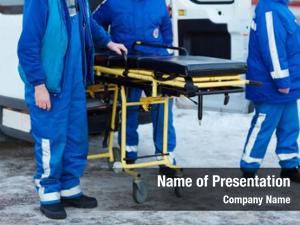 Workers emergency ambulance stretcher