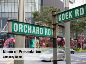 That street signs says orchard