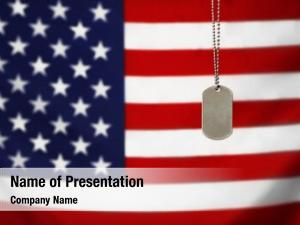 Military id tag powerpoint template