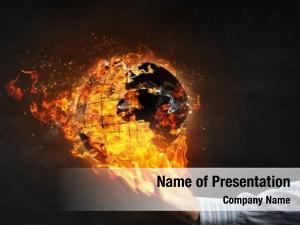 Fire world globe
