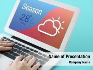 Season weather forecast cloud icon