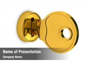 Lock isolated key white