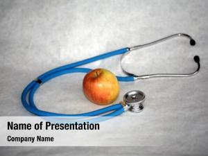 Represents apple stethoscope saying