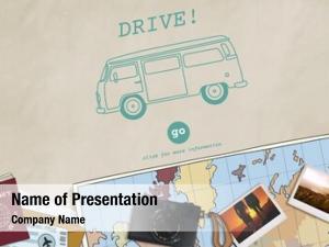 Travel retro car tour destination