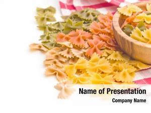 Pasta colorful italian white