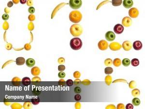 Fruits digits made