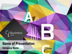 Mosaic low powerpoint template