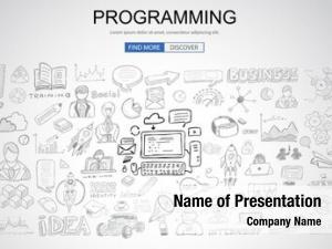 Business programming concept doodle design