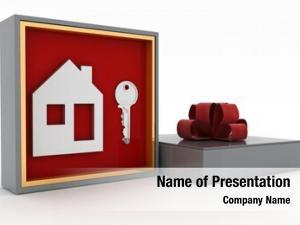 House key symbol gift box