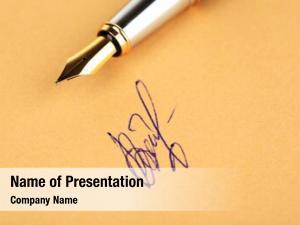 Paper pen signature