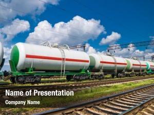White railroad transportation tank cars
