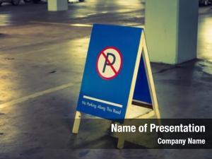 Filtered parking sign processed vintage