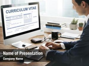 Resume curriculum vitae job application