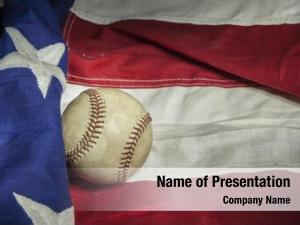 Baseball major league american flag
