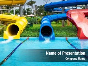 Tropical water slides aqua park
