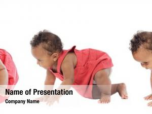 Baby photographic sequence learning walk