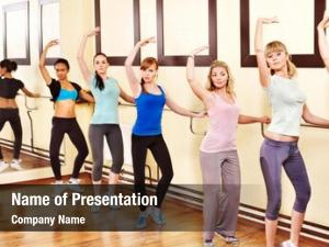 Aerobics women group class