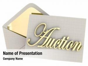 Envelope auction invitation bidding sale