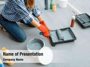 Impregnates house painter roller paint