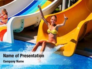 Slide child water water park