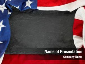 Black american flag slate stone
