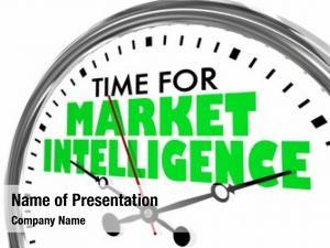 Intelligence time market clock words