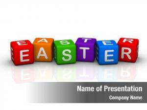 Colorful easter (buzzword cubes series)