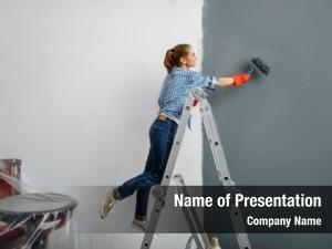 Painter female house gloves paints