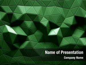 Geometric abstract polygonal green color