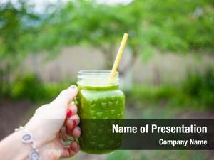 Drink detox cleanse concept green