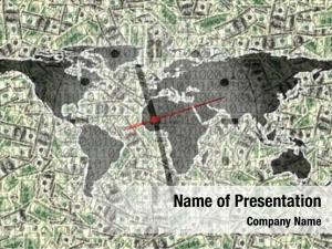 World conceptual finance map clock