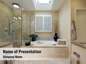 Bath luxury master skylight over