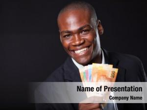 Businessman happy african south african
