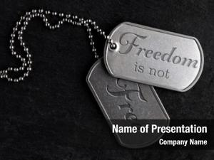 Military old worn dog tags