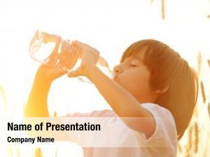 Pure kid drinking fresh water