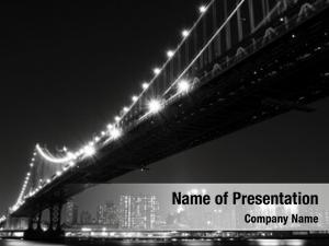 Manhattan manhattan skyline bridge night,