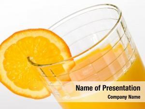 Juice fresh orange glass orange