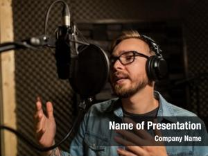 Music show ppt template