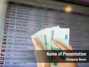 Finance currency powerpoint template