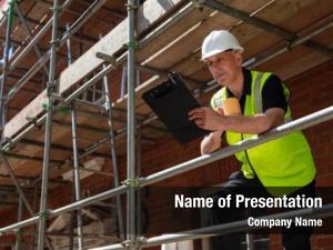 Male panorama man builder foreman,