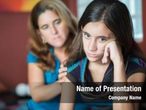 Mother teenager problems comforts her