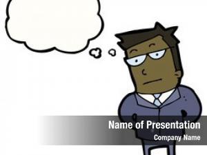 Businessman cartoon serious
