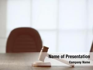 Juridical gavel powerpoint background