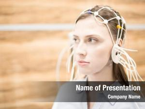 Eeg young woman electrodes all