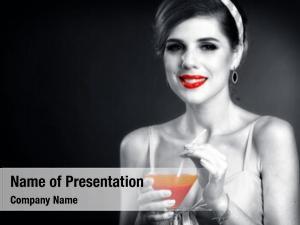 Girl pin retro drink bloody