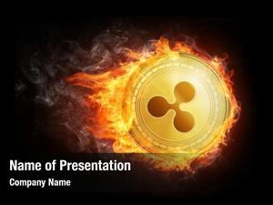 Coin golden ripple flying fire