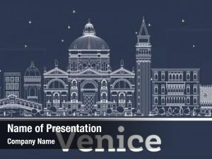 Italy outline venice city skyline
