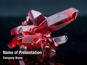 Natural red crystal origin