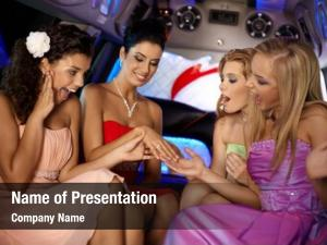 Limousine, hen party girls looking