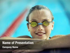 Child portrait swimming